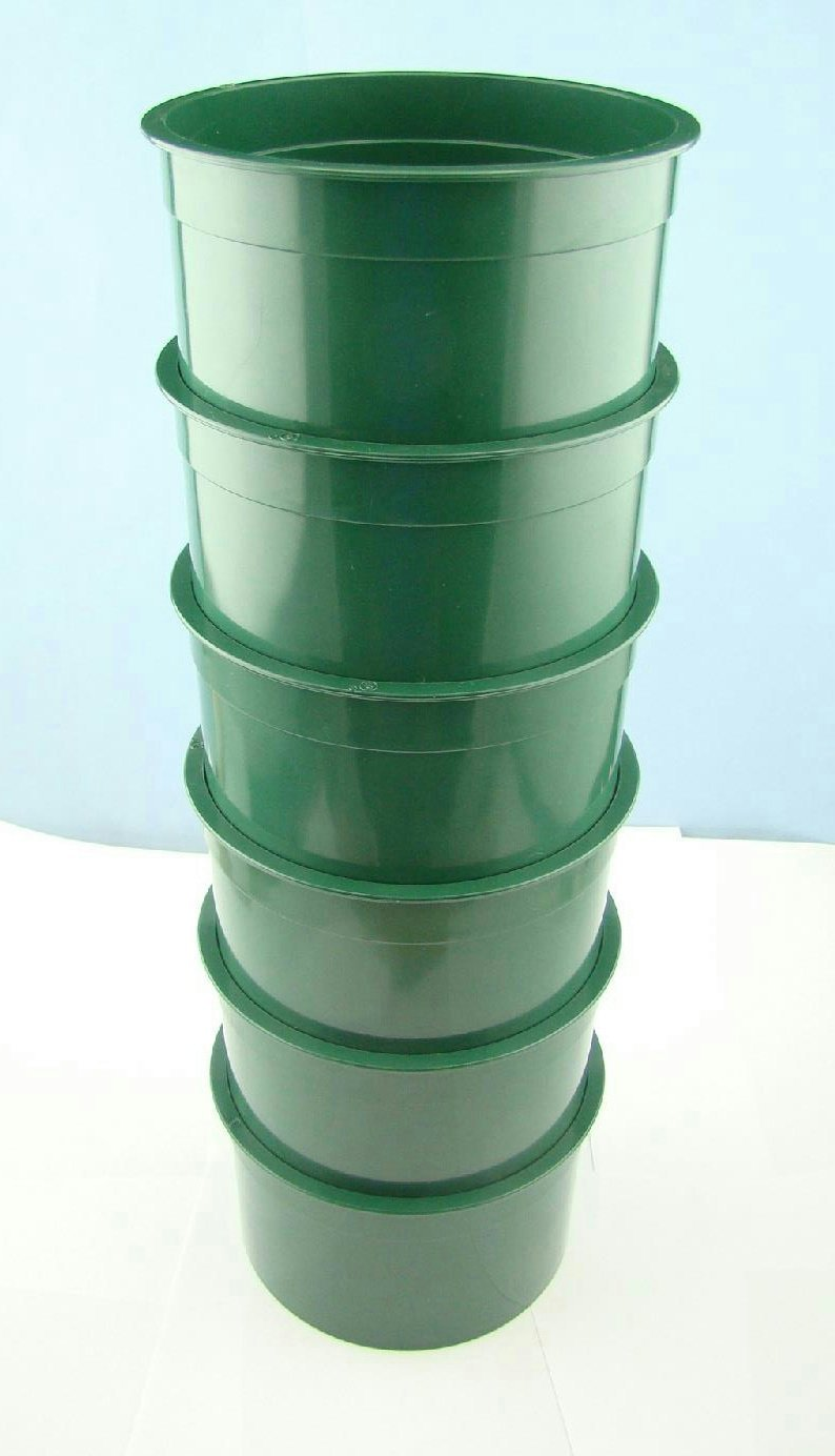 """Set of 6 Stackable Mini 5""""Classifying Screens 1/4""""-1/10""""-1/20""""-1/30""""-1/40""""-1/50"""" Mesh Gold Panning"""