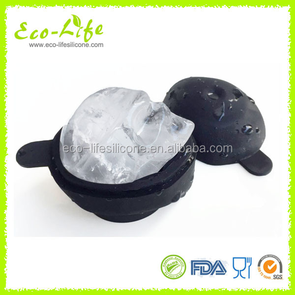 3D Skull Ice Ball Mold, Silicone Skull Ice Cube Tray Mold, Ice Mold for Halloween