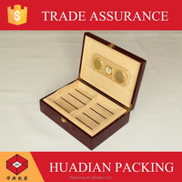Modern Handmade Humidors With Real Veneer Wooden Cigar Box