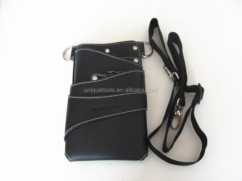 Leather hairdresser barber scissor pouch and holster bags