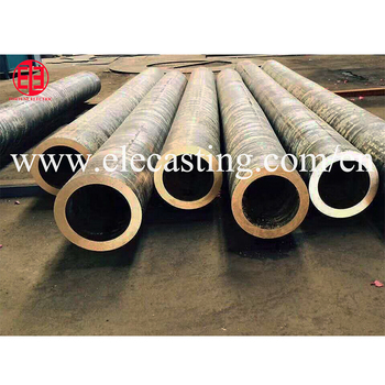Continuous casting line for bronze tube bar rod machines