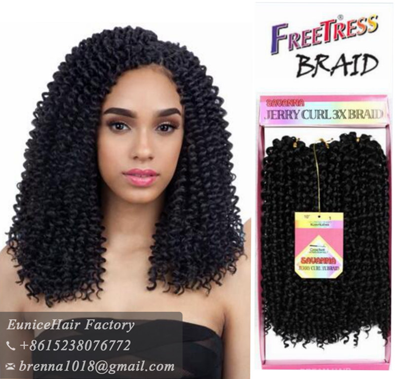 64fa0786a3 Wholesale synthetic hair extension crochet braids freetress braids 3pc per pack  jerry curly ombre braiding hair bundles curly