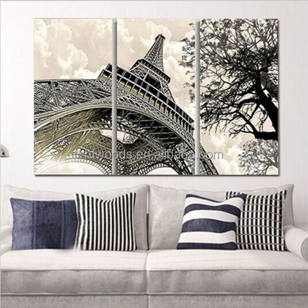 Abstract France Eiffle Tower Oil Painting Landscape Canvas for Home Decor