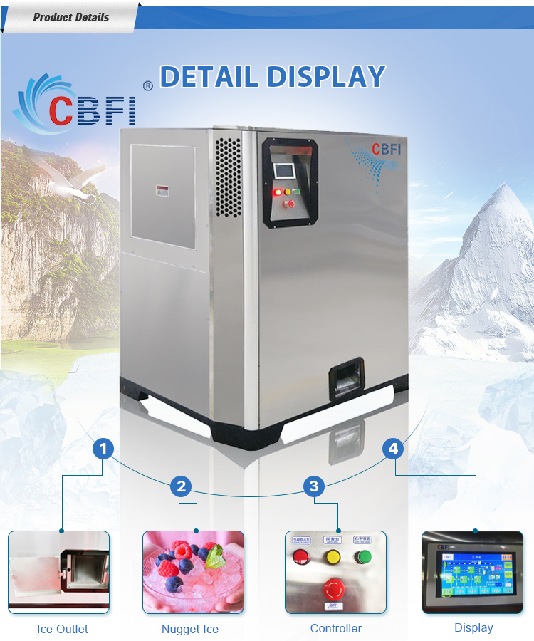 CBFI nugget ice maker machine factory price for ice bar-6