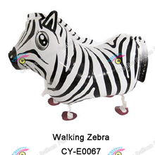 Inflatable helium Walking Pet Animals Balloons foil walking zebra balloons