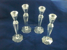 Prisma cut crystal glass candelero MH-1879