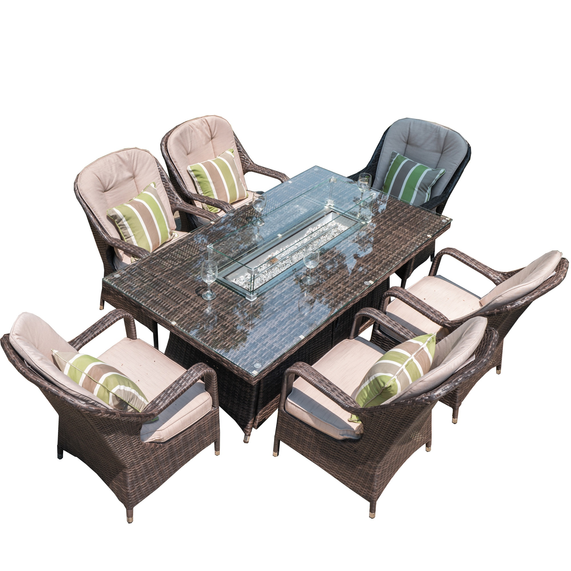 Picture of: 2020 Popular 6 Seat Square Gas Fire Pit Dining Table Buy Outdoor Fire Pit Table 6 Seaters Dining Tables Marble Fire Pit Table Product On Alibaba Com