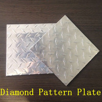 aluminum chequered sheet plates 5 bar and diamond pattern