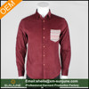New design winter warmly plain color corduroy shirt for men