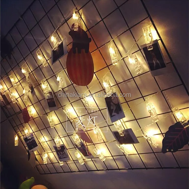 Best Selling Home Party  Decoration Battery Operated  Warm White  Light Photo Clip  10L 20 L  Photo Clip  String Lights