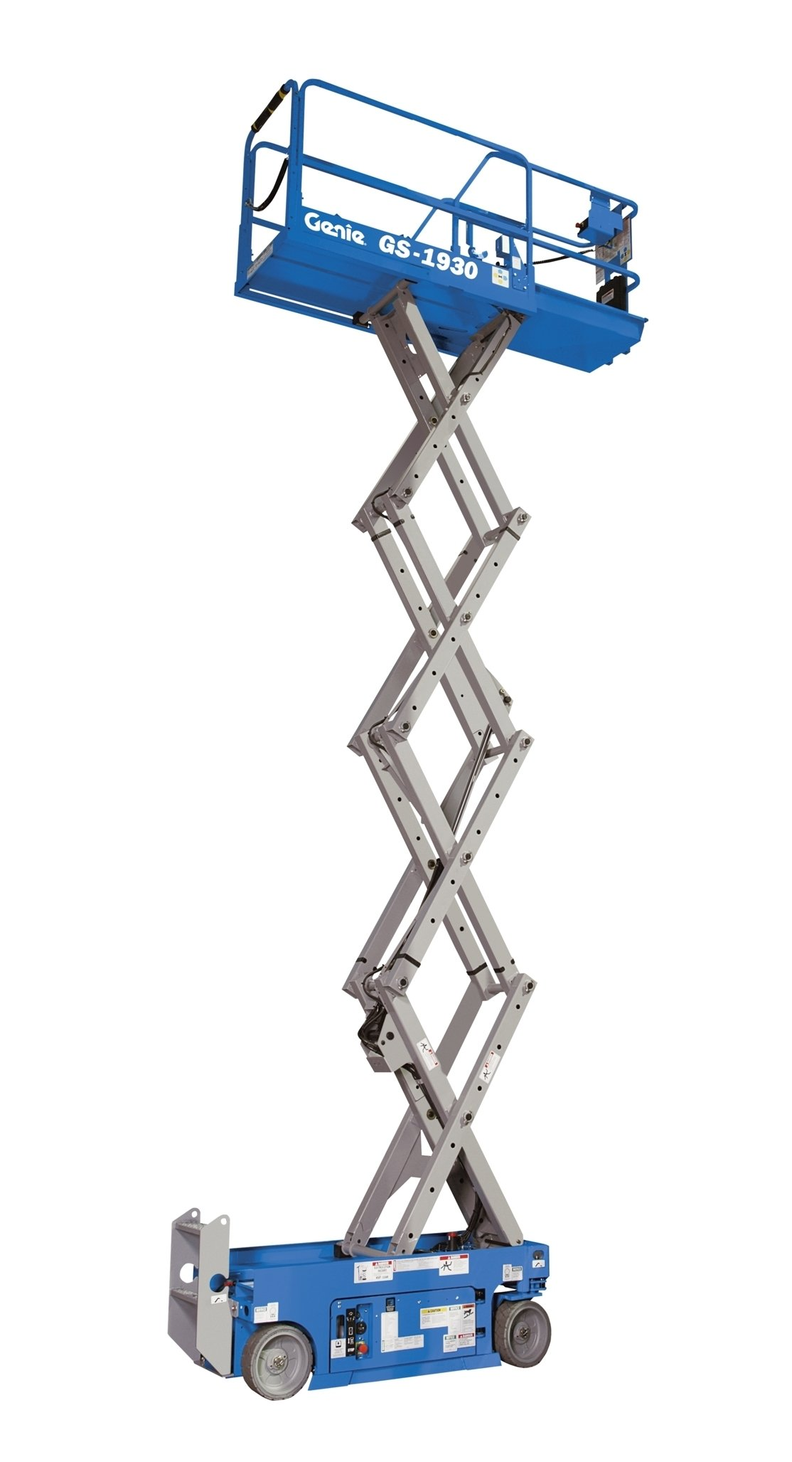 Genie GS-1930 Self-Propelled Electric Scissor Lift, 500 lbs Platform Load Capacity, 19' Lift Height
