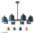 2018 New design butterfly good quality modern refreshing crisp style Macarons colors chandelier pendant light lamp for home