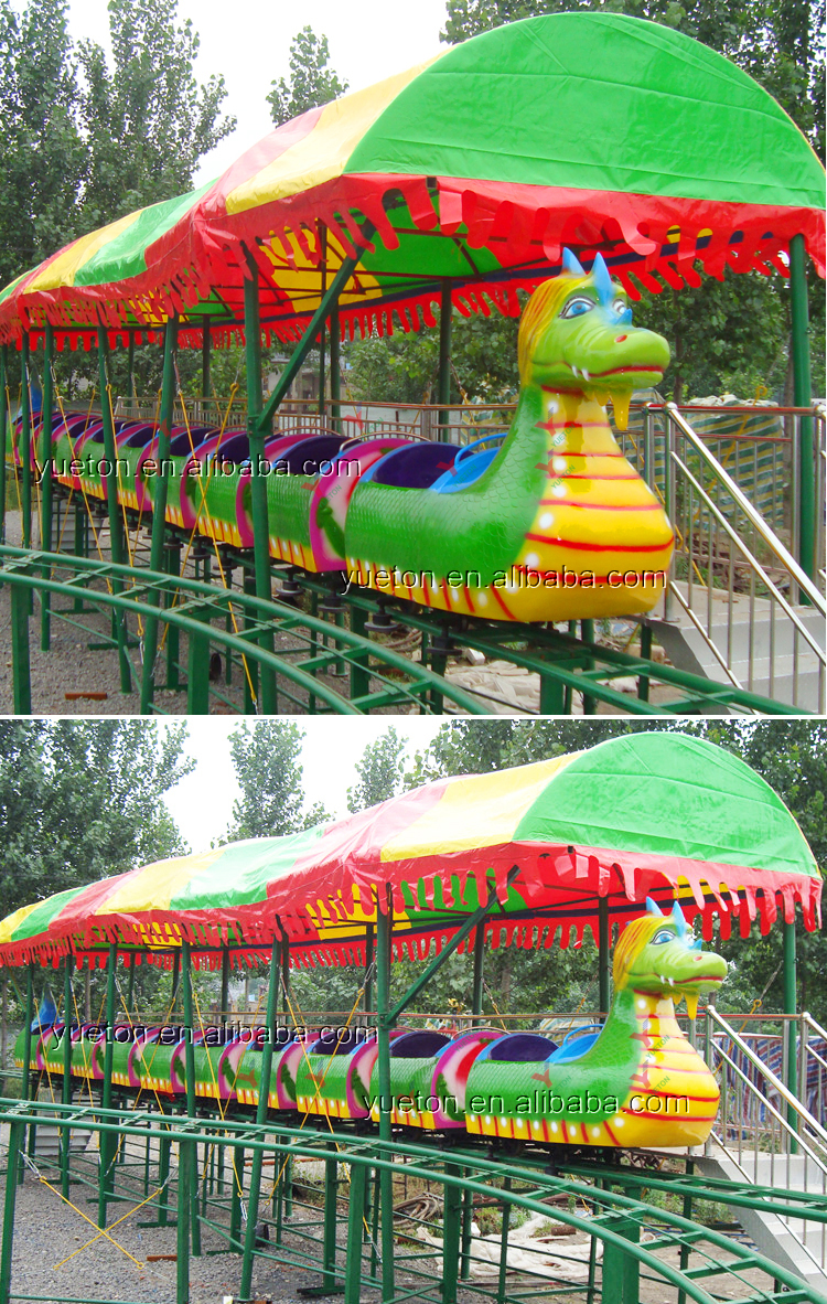 Hot Sale Carnival Rides Backyard Small Dinosaur Roller Coaster For Kids