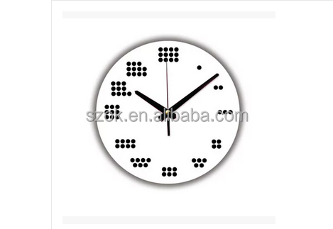 promotional clear acrylic wall clock home decoration