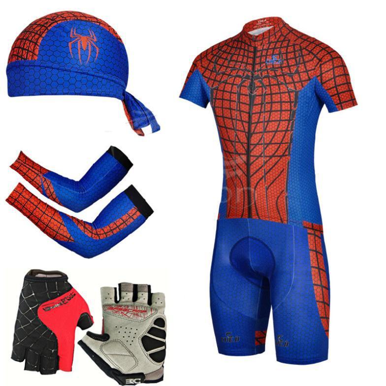 Get Quotations · 2015 New Super Hero SpiderMan style men cycl cycling  5pcs lot jersey+ bib short + e526c9f92