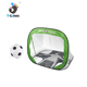 Indoor folding plastic portable soccer goal with soccer ball