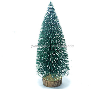 christmas decoration 23cm pine needle mini snowing christmas tree for tabletop decoration