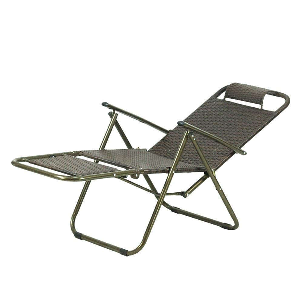 PLLP Dormitory Bed Chair, Student Lazy Chair, College Dormitory Artifact Balcony Casual Outdoor Cozy Backrest Chair Sun Loungers Folding Chair Rattan Lounge Chair