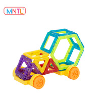 66 PCS Best Sale New Mini Size Magnetic Building Toys with Cars & Ferries Wheels /Magnet Construction Set/Education Toy for Kids