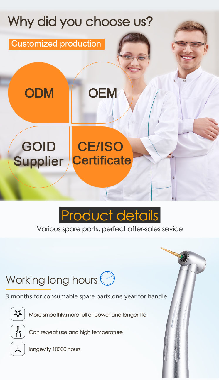 Gladentdental CE Approved Ceramic Bearing dental handpiece repair manual/dental  repair/handpiece repair training