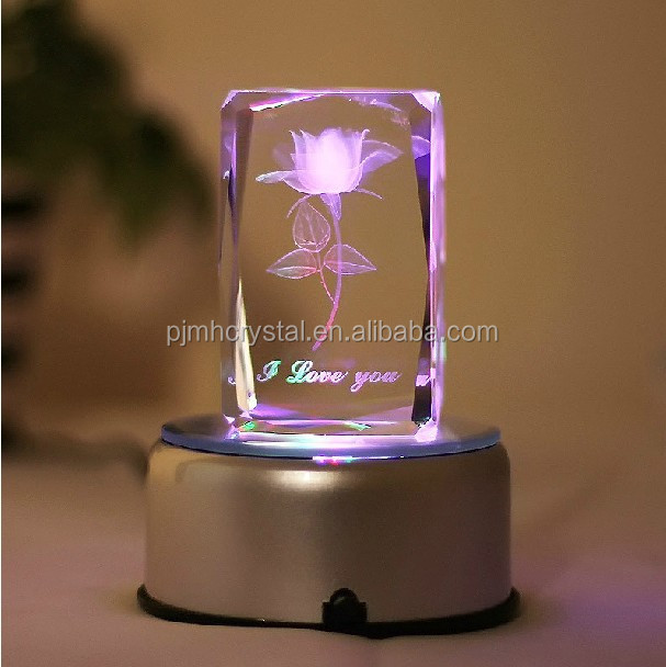 3D laser engraving crystal gifts for wedding souvenir MH-FT012