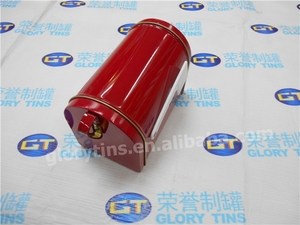 colourful printed metal mail tin box