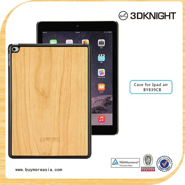 100% real wood marble green case for iPad Air 2
