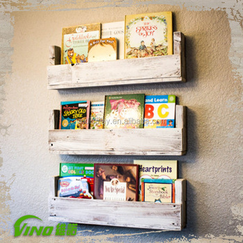 low priced 6ff15 76abf Vintage Wooden Paint Display Rack,Rustic Wall Mount Book Shelf,Antique  Homemade Magazine Storage Holder,Custom-made Library Rack - Buy Modern ...