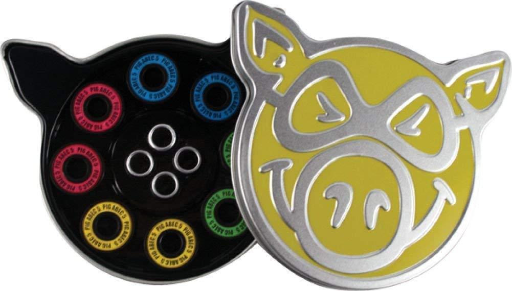 Pig Neon Abec 5 Bearings Single Set Skateboarding Bearings