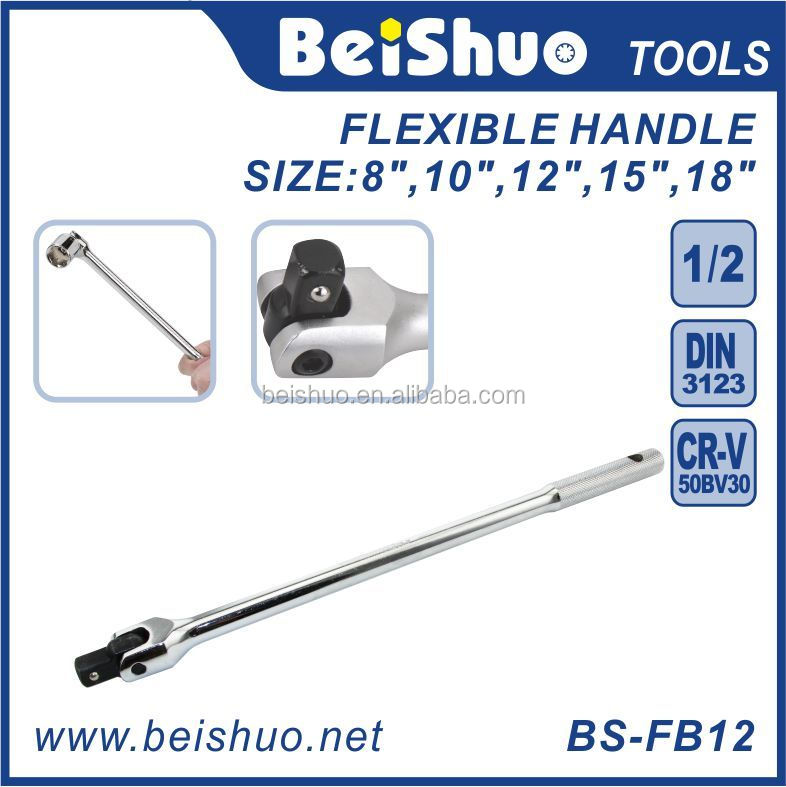 "BS-FB1217 1/2"" 3/8-Inch 1/4-inch Drive Flexible Handle Extension Bar, F Wrench"