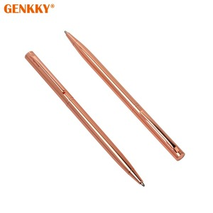 Hot sale cross pen with logo rose gold ballpoint pen for wedding gift