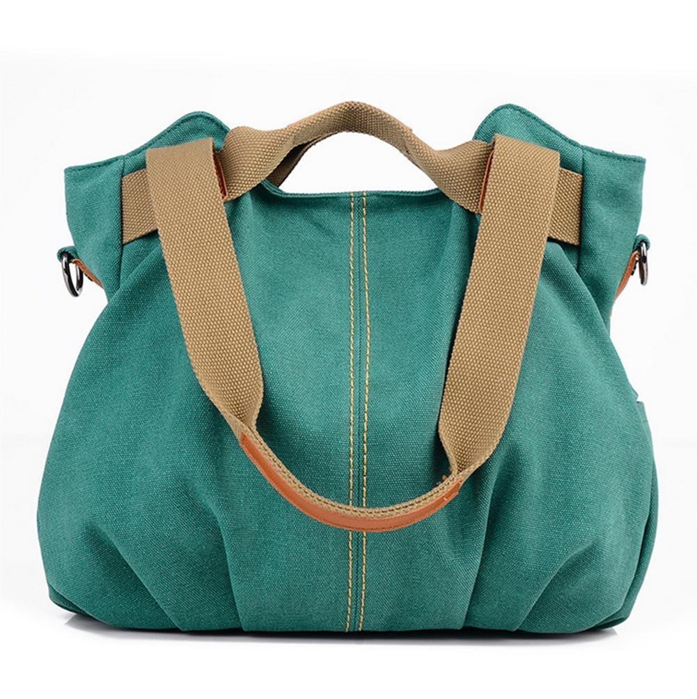 Canvas bag retro fashion female Joker laptop shoulder Messenger bag