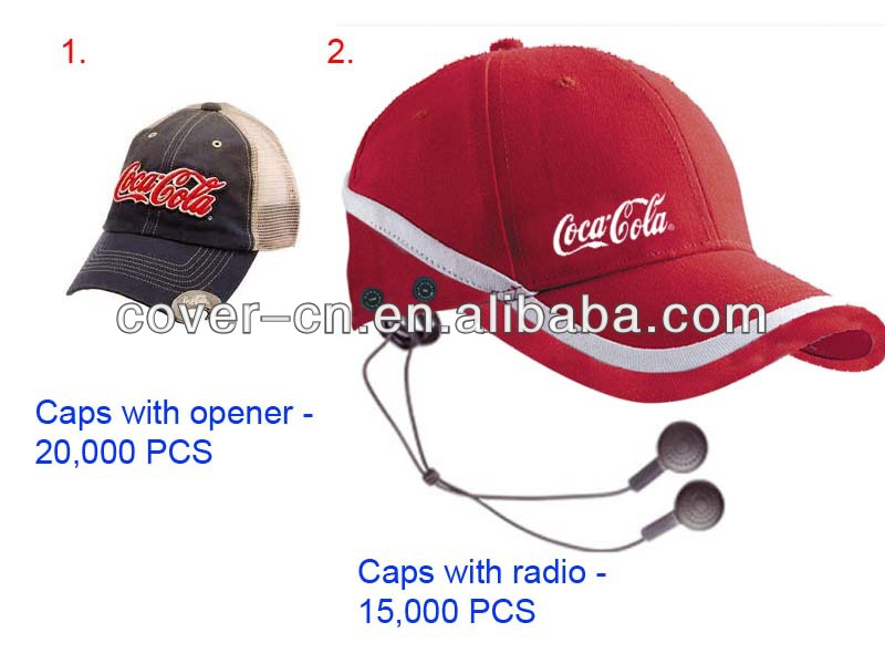 Promotional gifts Mini Radio cap Fashion FM Radio