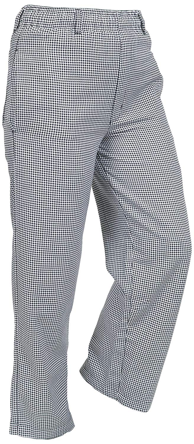 Mercer Culinary M61050HT8X Genesis Men's Chef Pant in Hounds Tooth, 8X-Large, Black/White