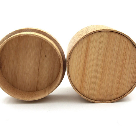 New round 100% pure bamboo vintage watch box
