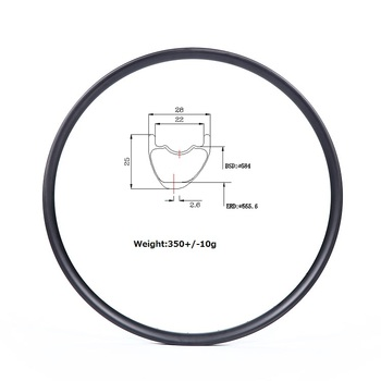 "Wholesale light weight 27.5"" Mtb carbon rim 28mm width 25mm height"