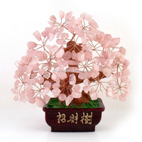 natural Quartz Crystal Tree for Feng Shui,Crystal Money Tree, Gift for Wedding