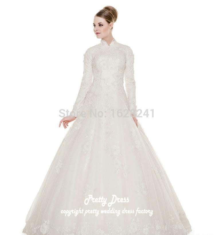 Buy Free shipping Traditional Wedding Dresses high neck ivory ...