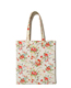 china customized promotion Colorful rose flower printing Pouch Storage Bag Reusable Shopping Shoulder Tote bags