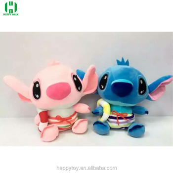 HI custom wearing swimming trunks Stitch and Angel plush stuffed soft doll toy for sale