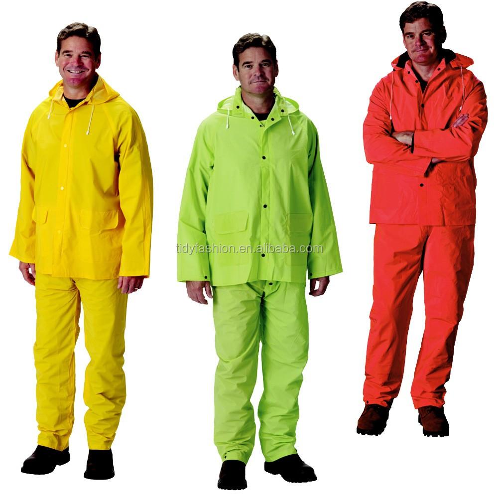 Waterproof Durable Raincoat And Plastic Rain Pants - Buy Plastic ...