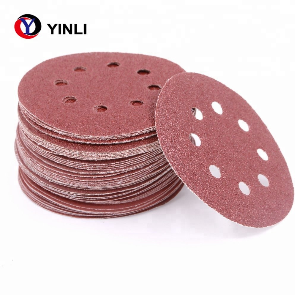 "5/"" Inch Sandpaper Disks P400 Grit Peel and Stick Adhesive Abrasive Sand Paper"