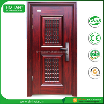 Main Gate Designs Home Exterior Entry Doors Steel Security Door With  Transom Window Popular For Back