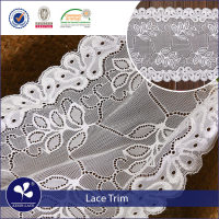 Hot selling 2018 new design 20.5 cm lace elastic trim stretch trim lace for lingeries