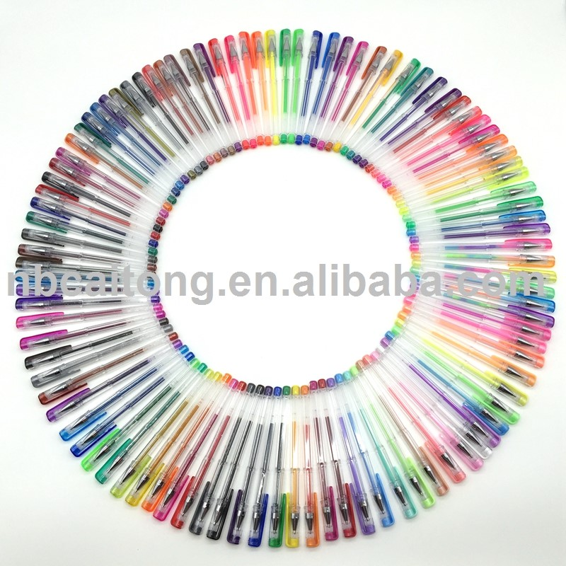 120 different ink colors gel pen set with smooth writing and coloring