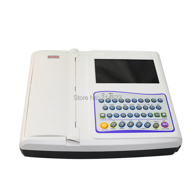 Direct selling CE Approved 12-Channel ECG EKG Machine Electrocardiograph 18 month warranty ss