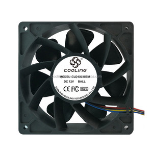 Bitcoin Miner Fan 120X120X38mm DC 12V 6000RPM Exhaust Fan For Bitcoin Mining Machine