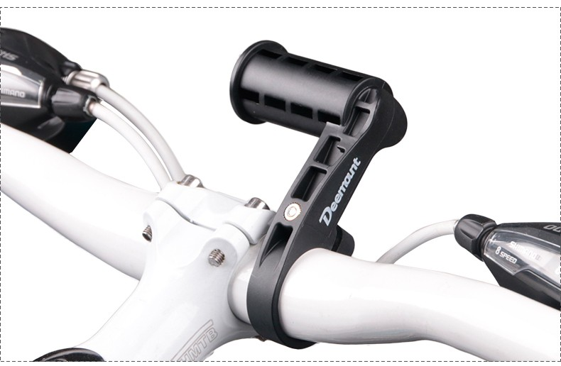 MTB Bike Flashlight Holder Black Handle Bar Extender Mount Extension Bracket