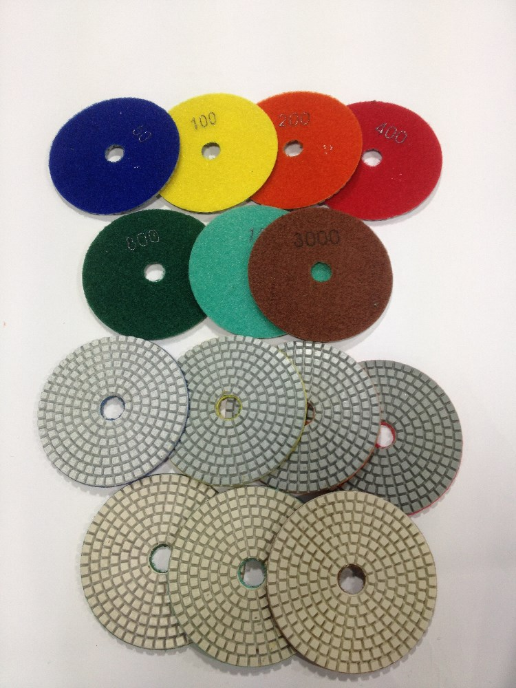 Diamond polishing pad for marble wet grinding