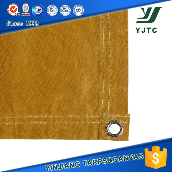 Tan colour cotton canvas waterproof canvas fabric tent cover